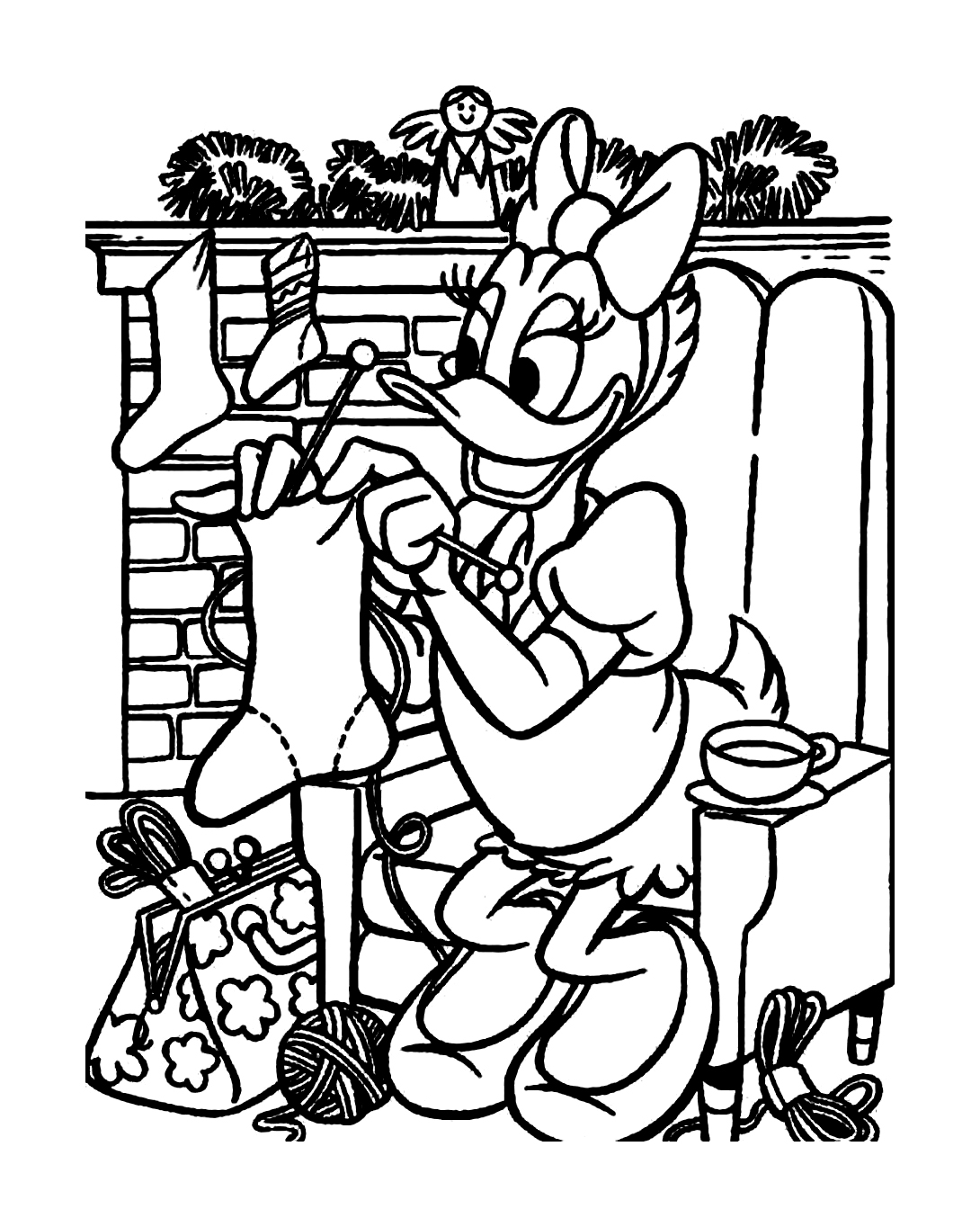 Incredible Daisy coloring page to print and color for free