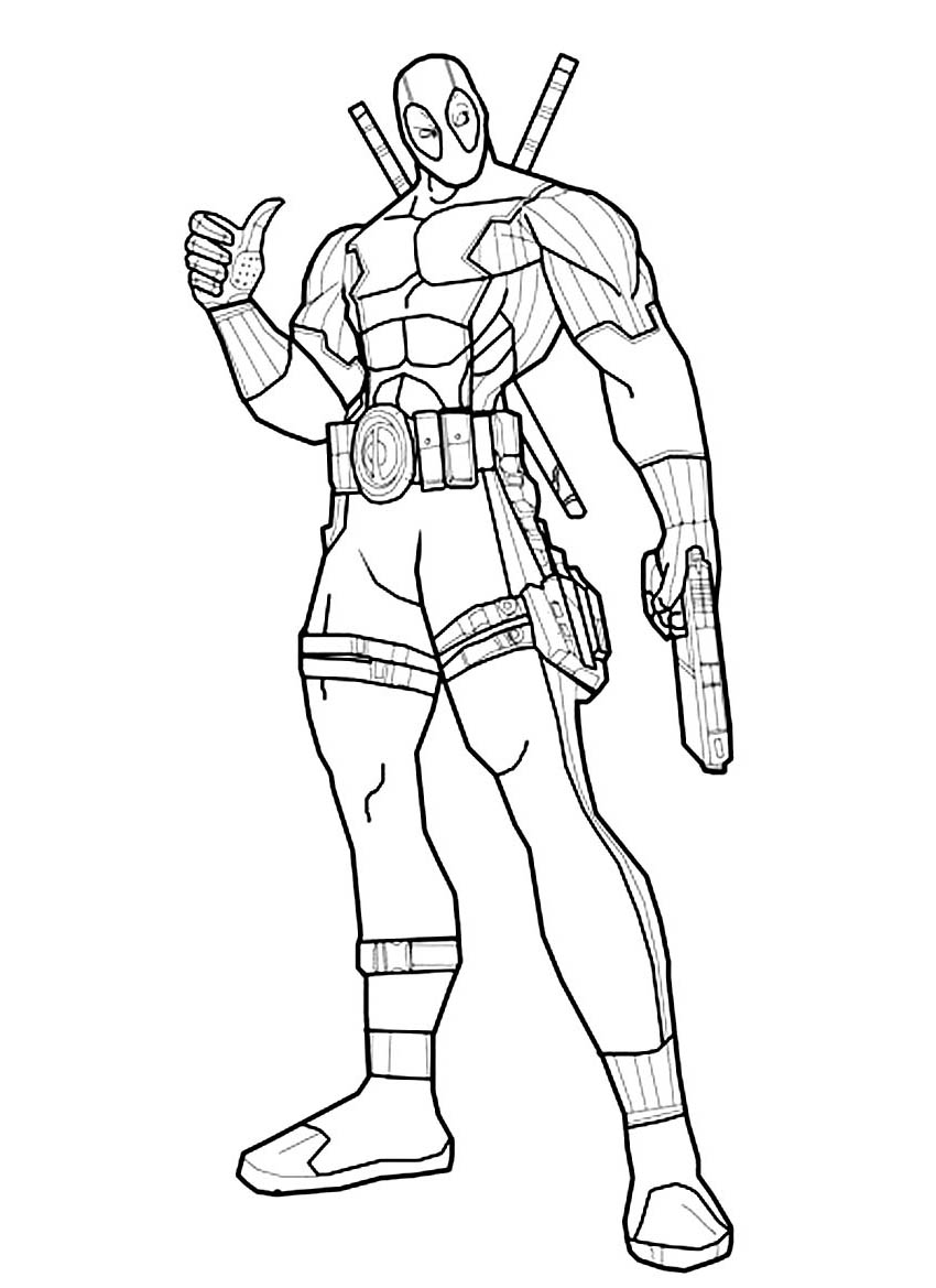Deadpool Coloring Pages: Deadpool Kids Coloring Pages