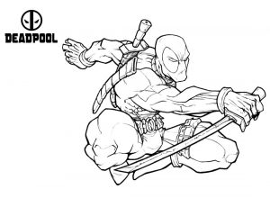 Deadpool - Free printable Coloring pages for kids