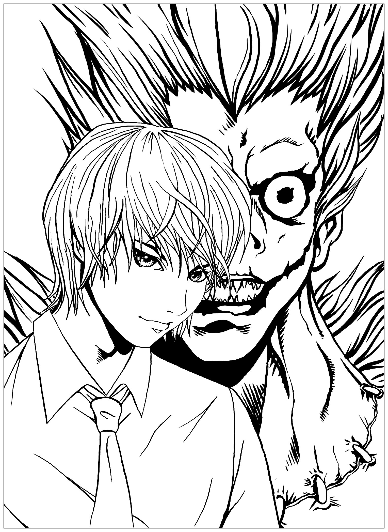 Free Death note coloring page to download, for children