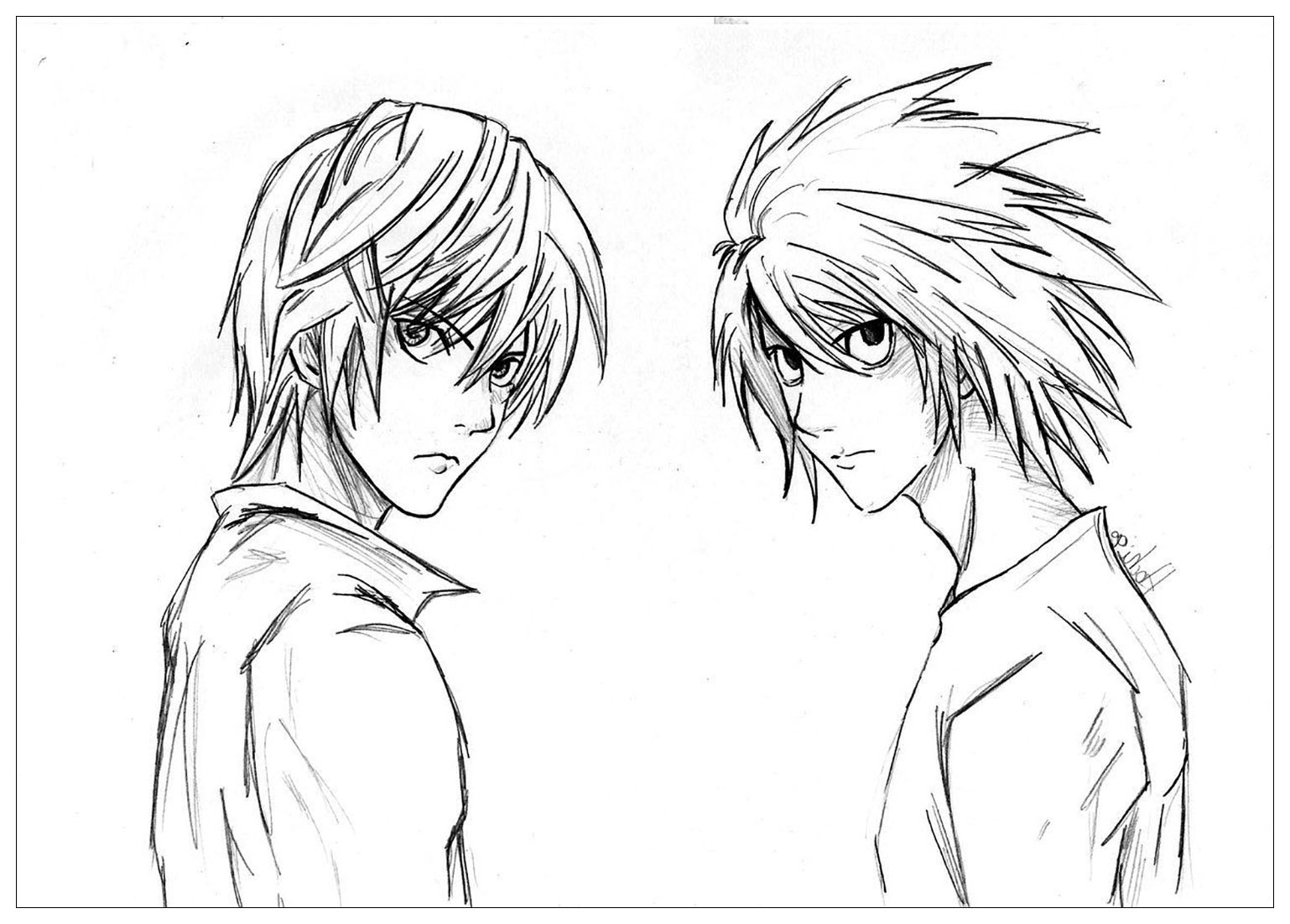 Simple Death note coloring page to download for free