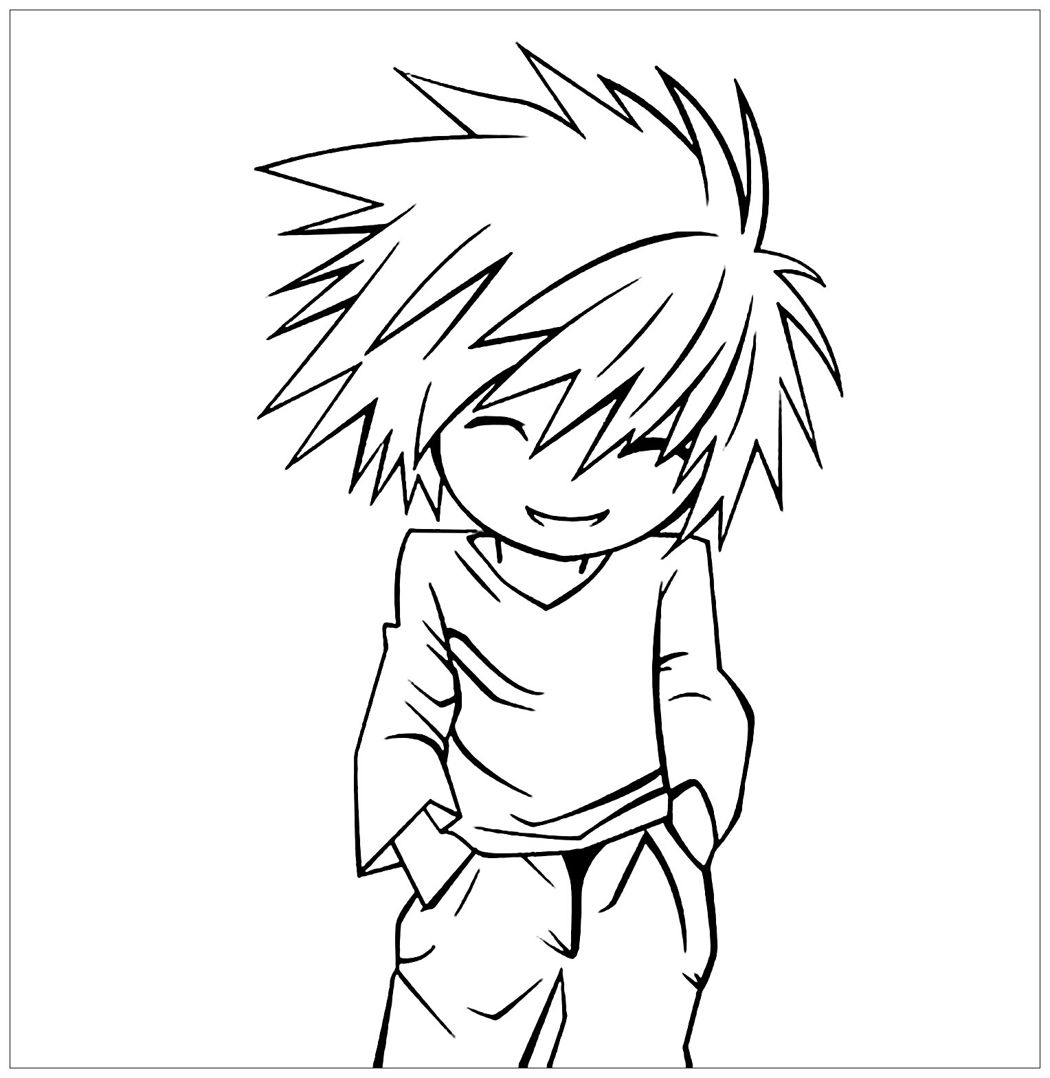 Death note coloring page to print and color