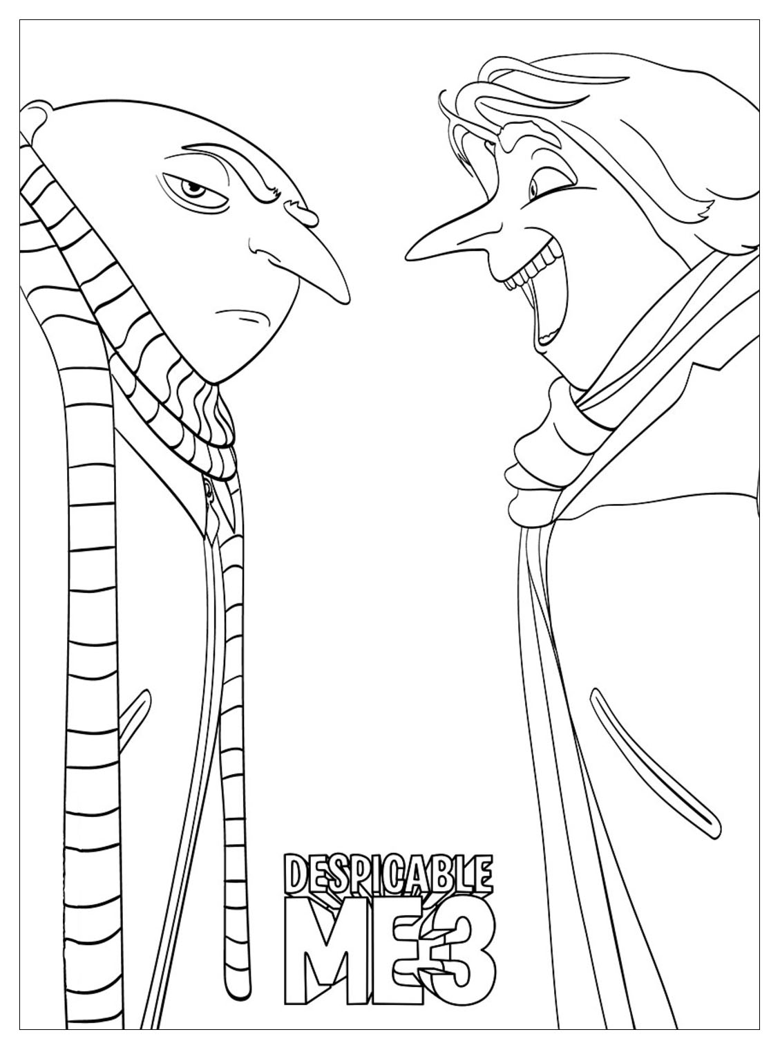 Free Printable Despicable Me Coloring Pages Online | 1519x1129