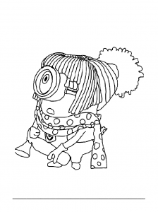 Coloring page despicable me to download