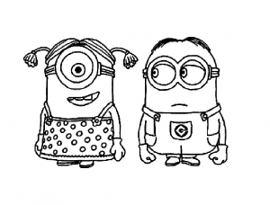 Coloring page despicable me to download for free