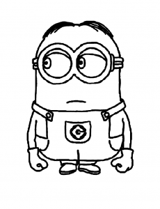 Coloring page despicable me free to color for children