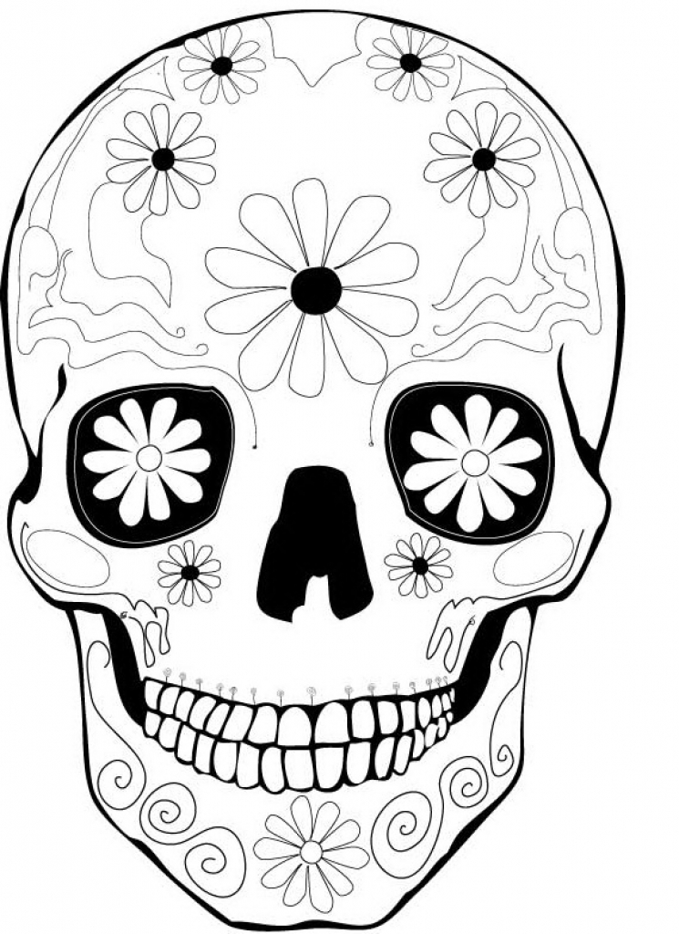 Dia De Los Muertos (Day Of The Dead) Kids Coloring Pages
