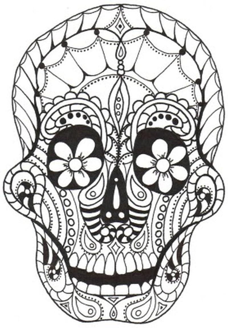 Dia De Los Muertos (Day Of The Dead) - Free printable Coloring pages ...