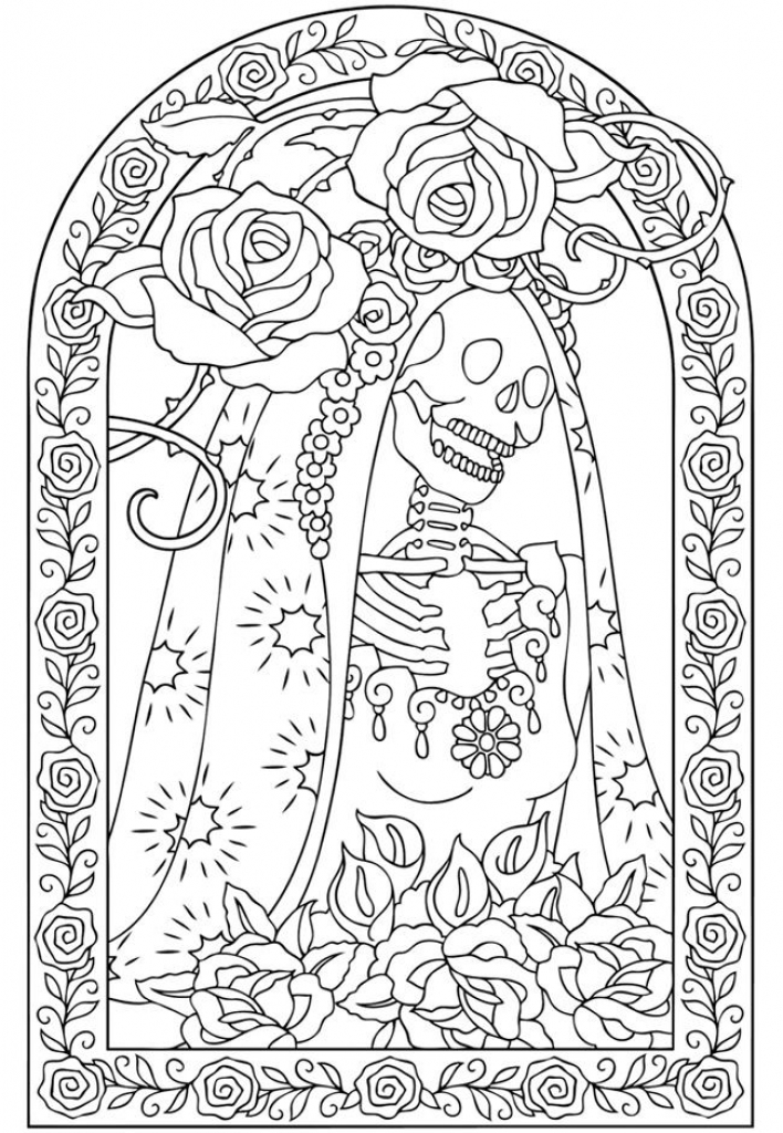 34 Day Of The Dead Coloring Pages - Free Printable Coloring Pages