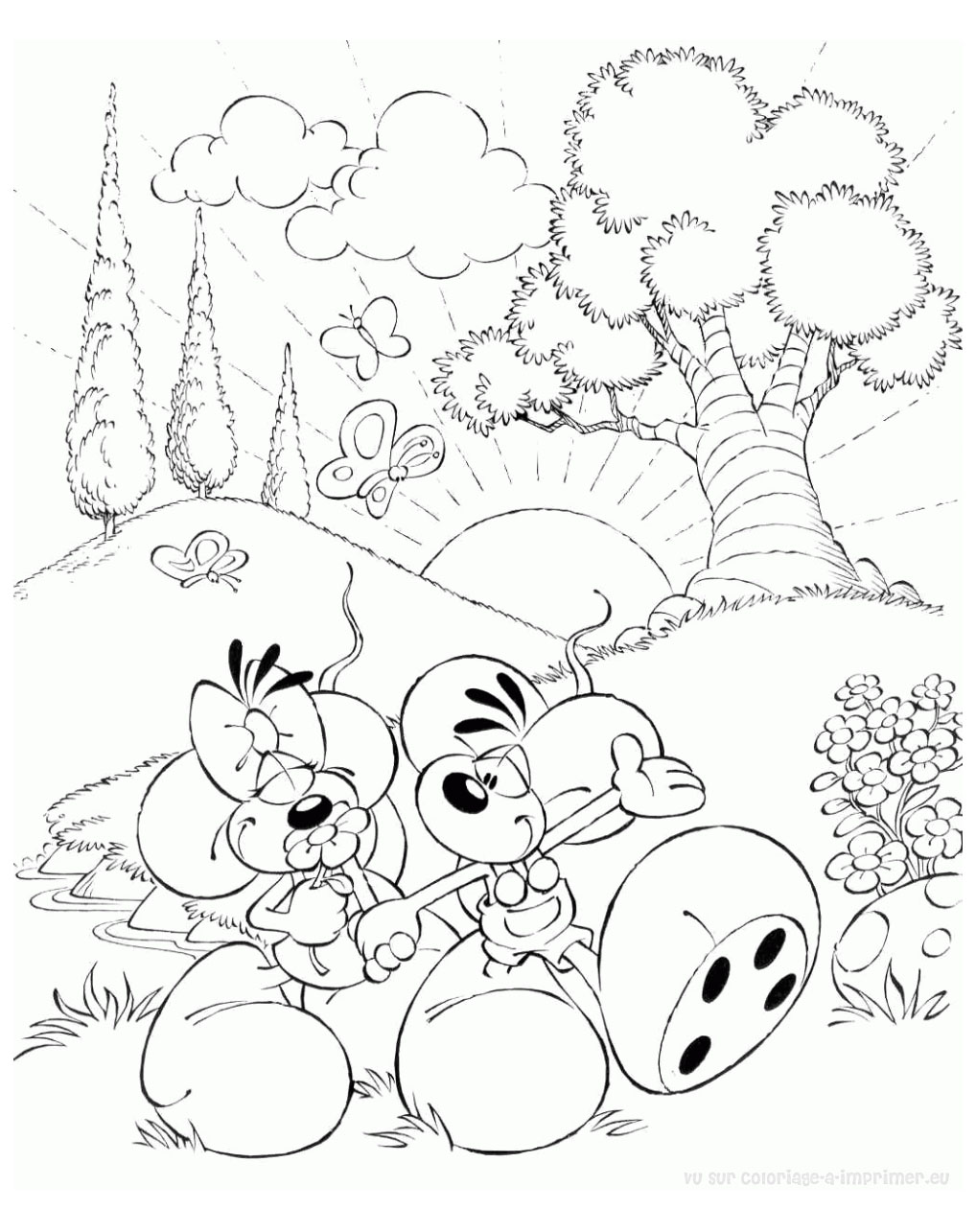 Beautiful Diddl coloring page