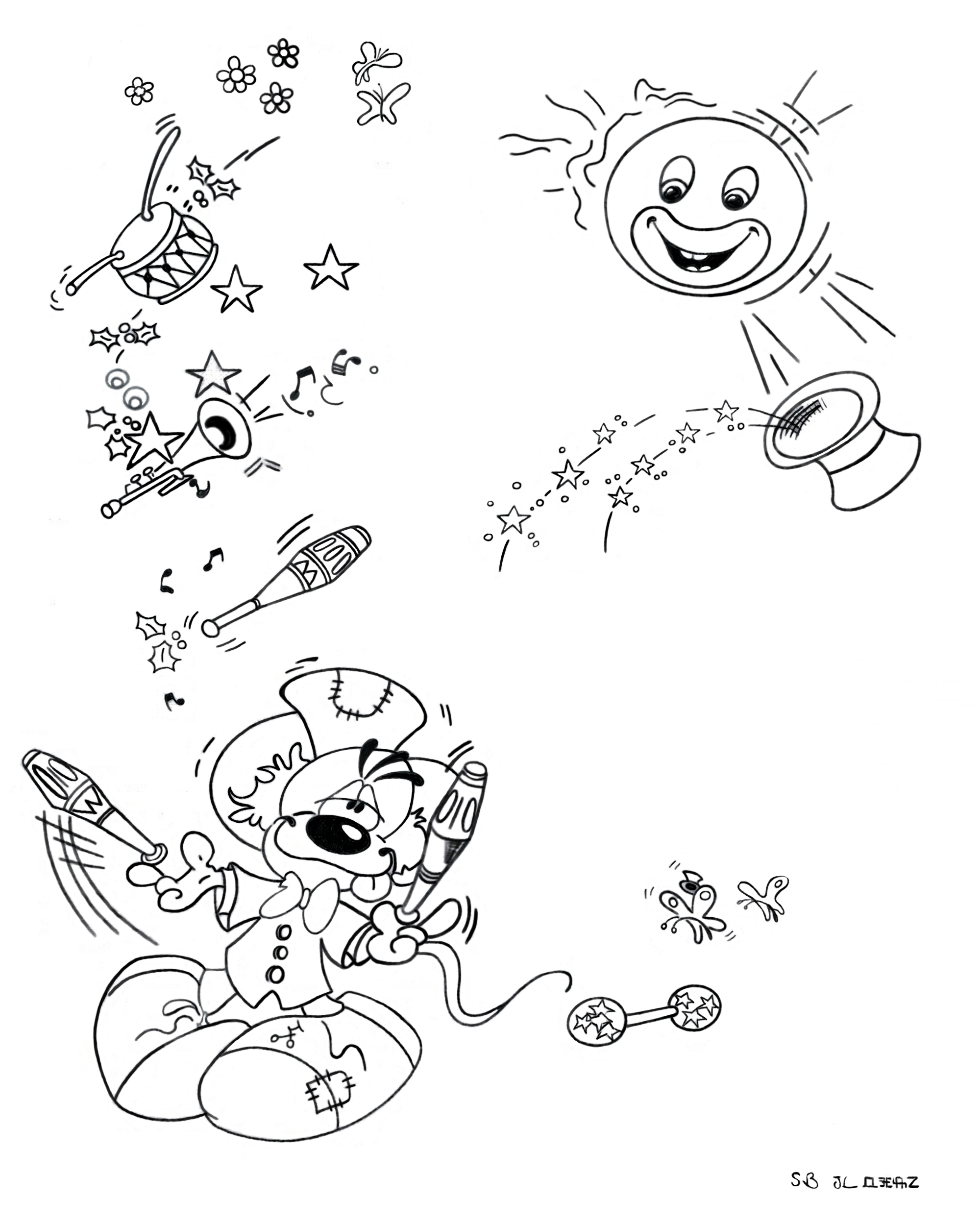 Funny Diddl coloring page for children