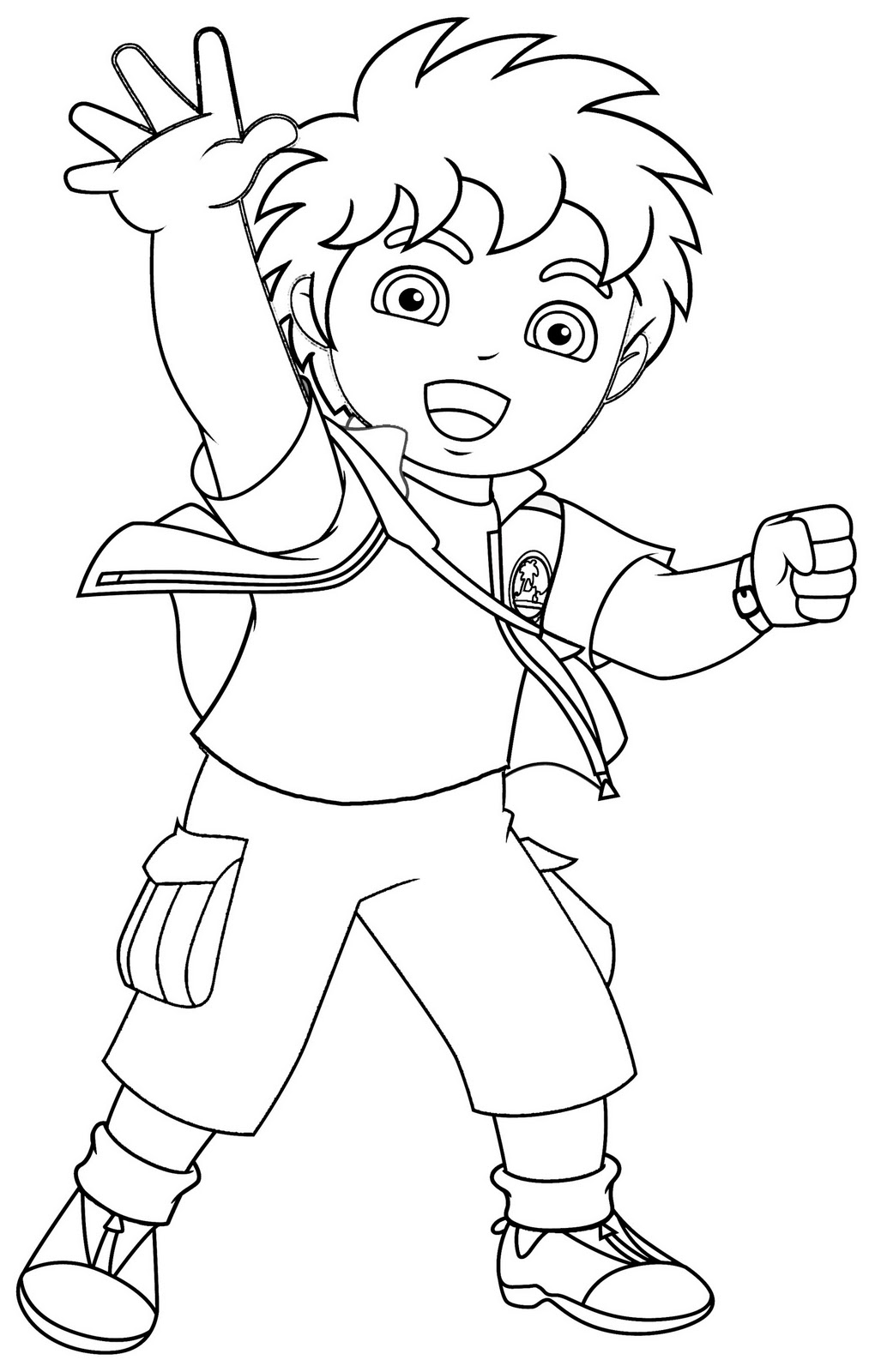 Diego to color for children - Diego Kids Coloring Pages