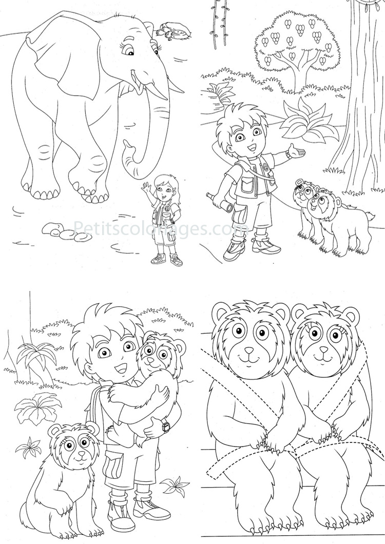 Simple Diego coloring page to download for free