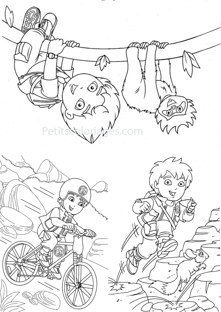 Free Diego coloring page to download