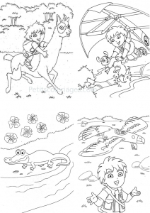 Coloring page diego to download for free