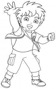 Coloring page diego to color for children