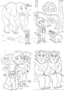 Coloring page diego to color for kids