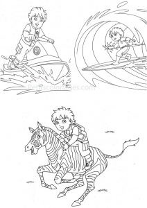 Coloring page diego for children