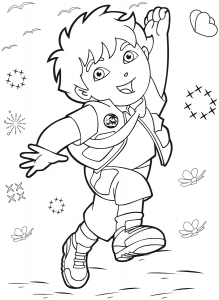 Coloring page diego to download