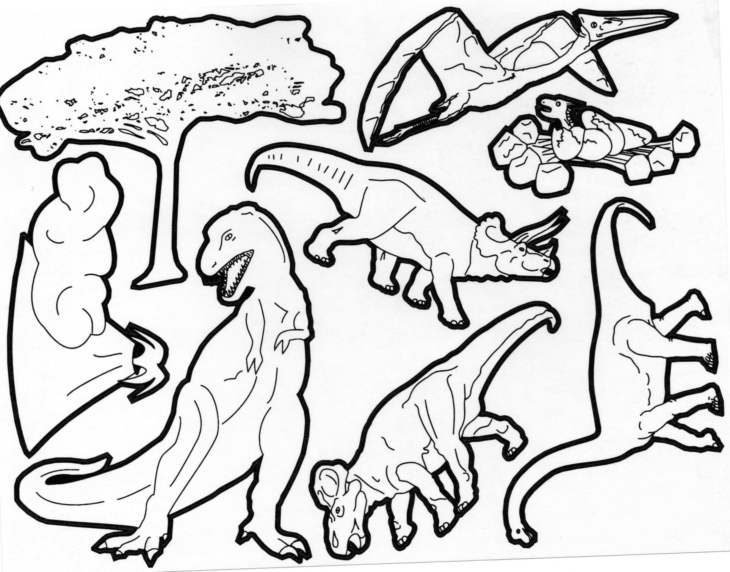 Funny Dinosaurs coloring page : Dinosaur Types of Dinos