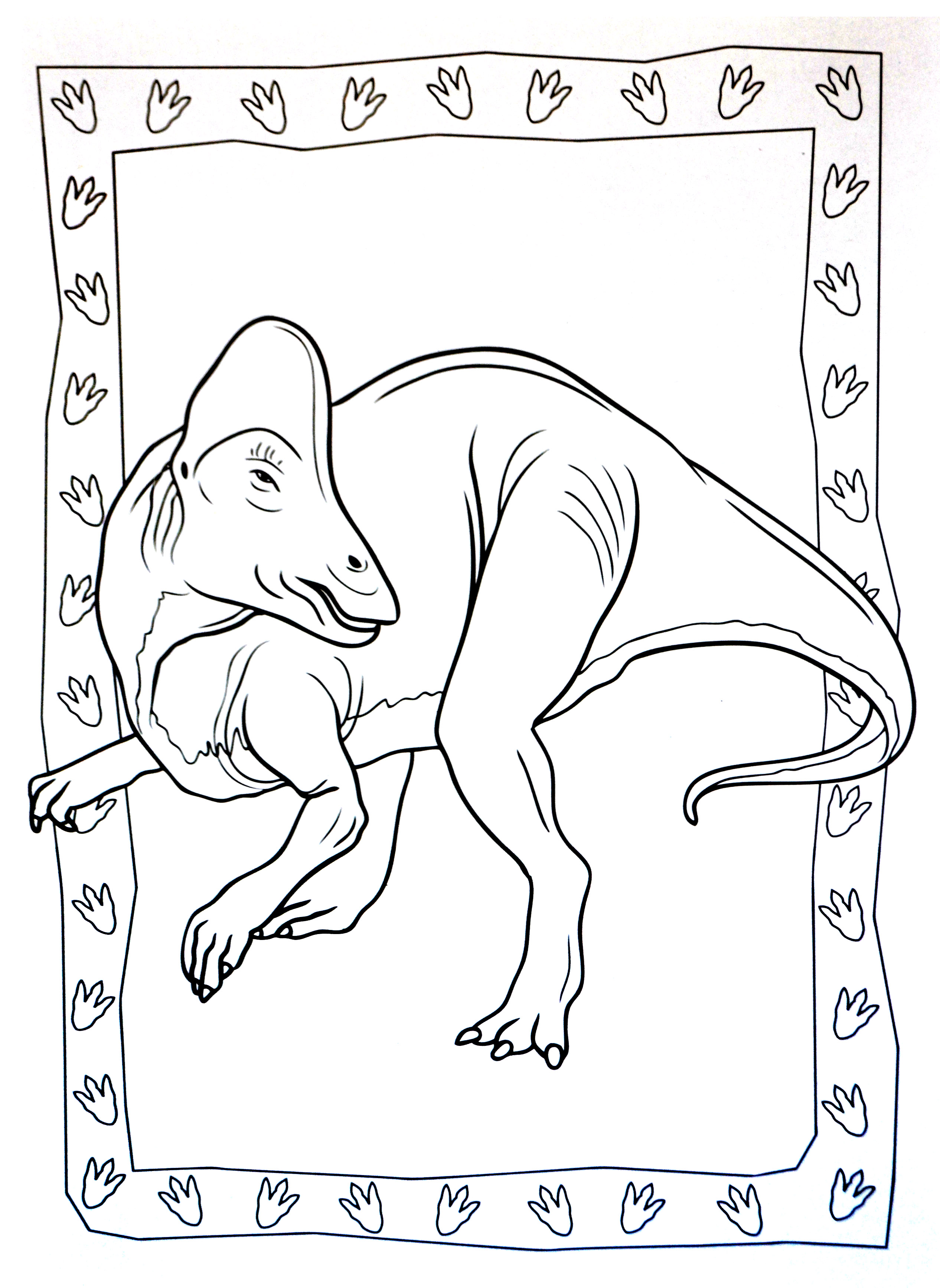 Dinosaurs coloring page to download : Hadrosauridae (Duck-Billed Dinosaur)