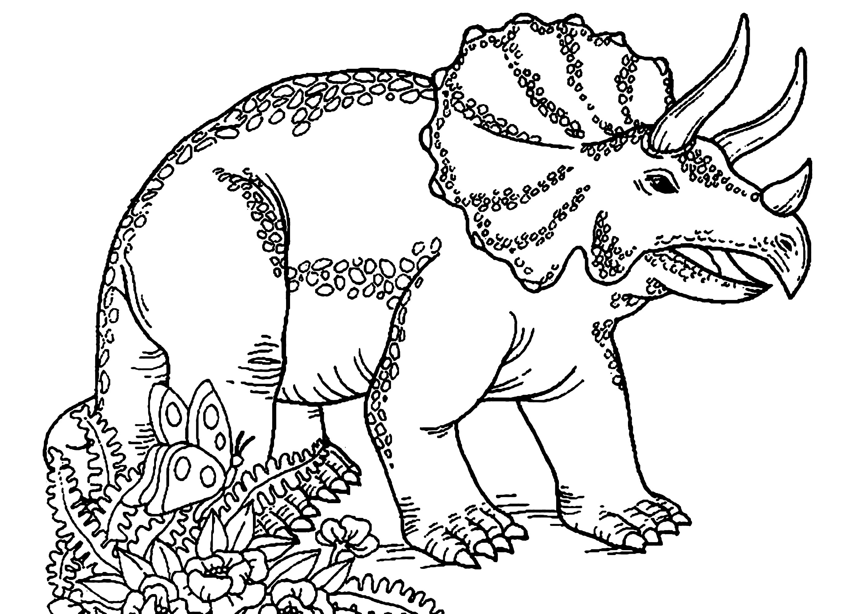 T-Rex dinosaur coloring pages for kids, printable free | Dinosaur ... | 2000x2828