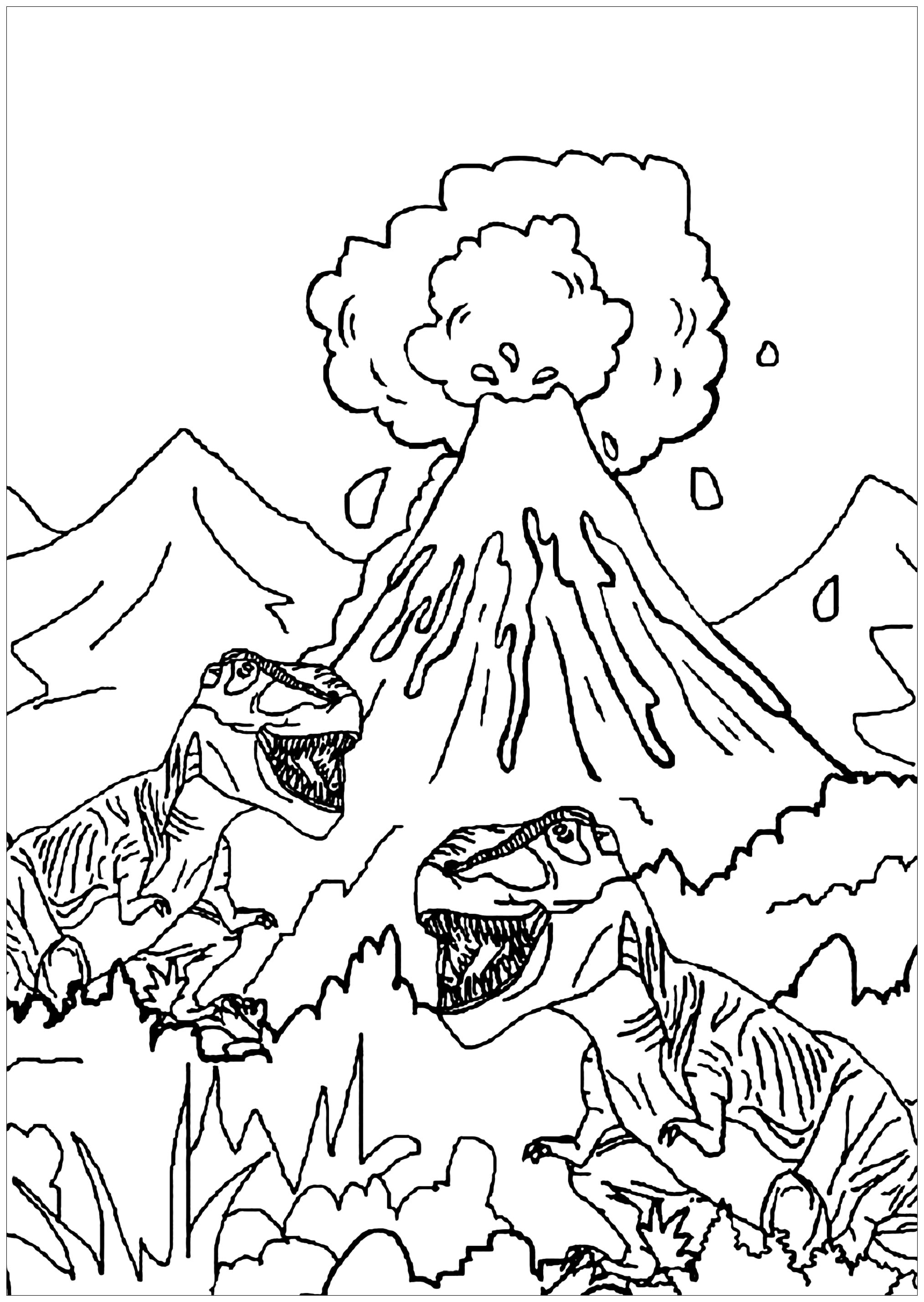 Dinosaurs to print for free - Dinosaurs Kids Coloring Pages