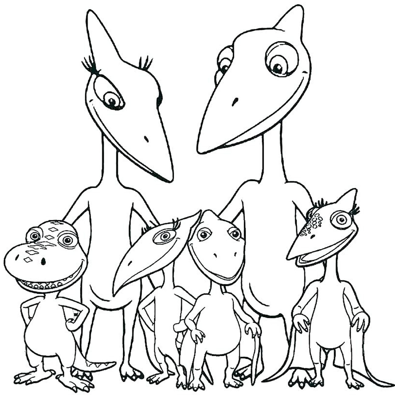 Dinosaurs free to color for kids - Dinosaurs Kids Coloring Pages