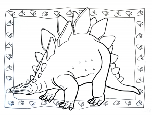 Coloring page dinosaurs to print