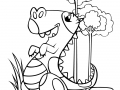 Coloring page cartoon dinosaurs free to color for kids