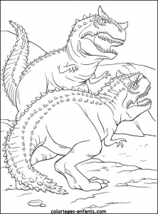 Coloring page dinosaurs for children