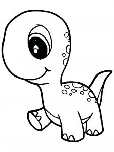 Coloring page dinosaurs to download : Baby Dino