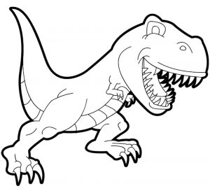 Coloring page dinosaurs free to color for kids