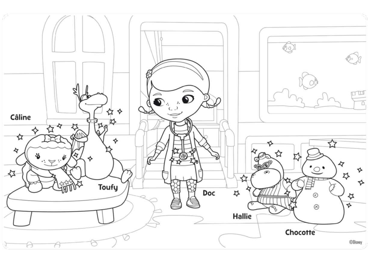 Beautiful Doc McStuffins coloring page