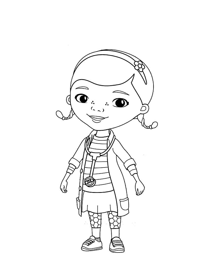 Doc Mcstuffins Free To Color For Children Doc Mcstuffins Kids