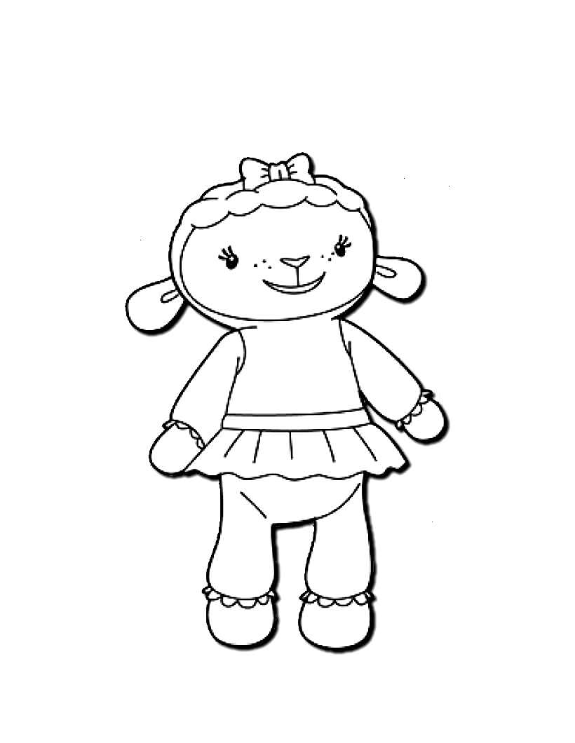 Doc Mcstuffins To Color For Children Doc Mcstuffins Kids