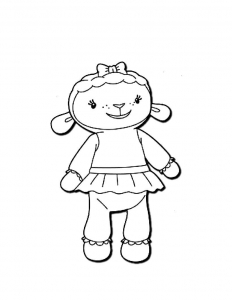 Coloring page doc mcstuffins to color for children