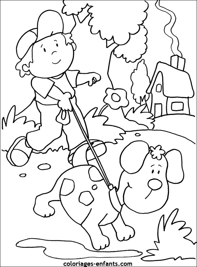 Dog for children - Dogs Kids Coloring Pages