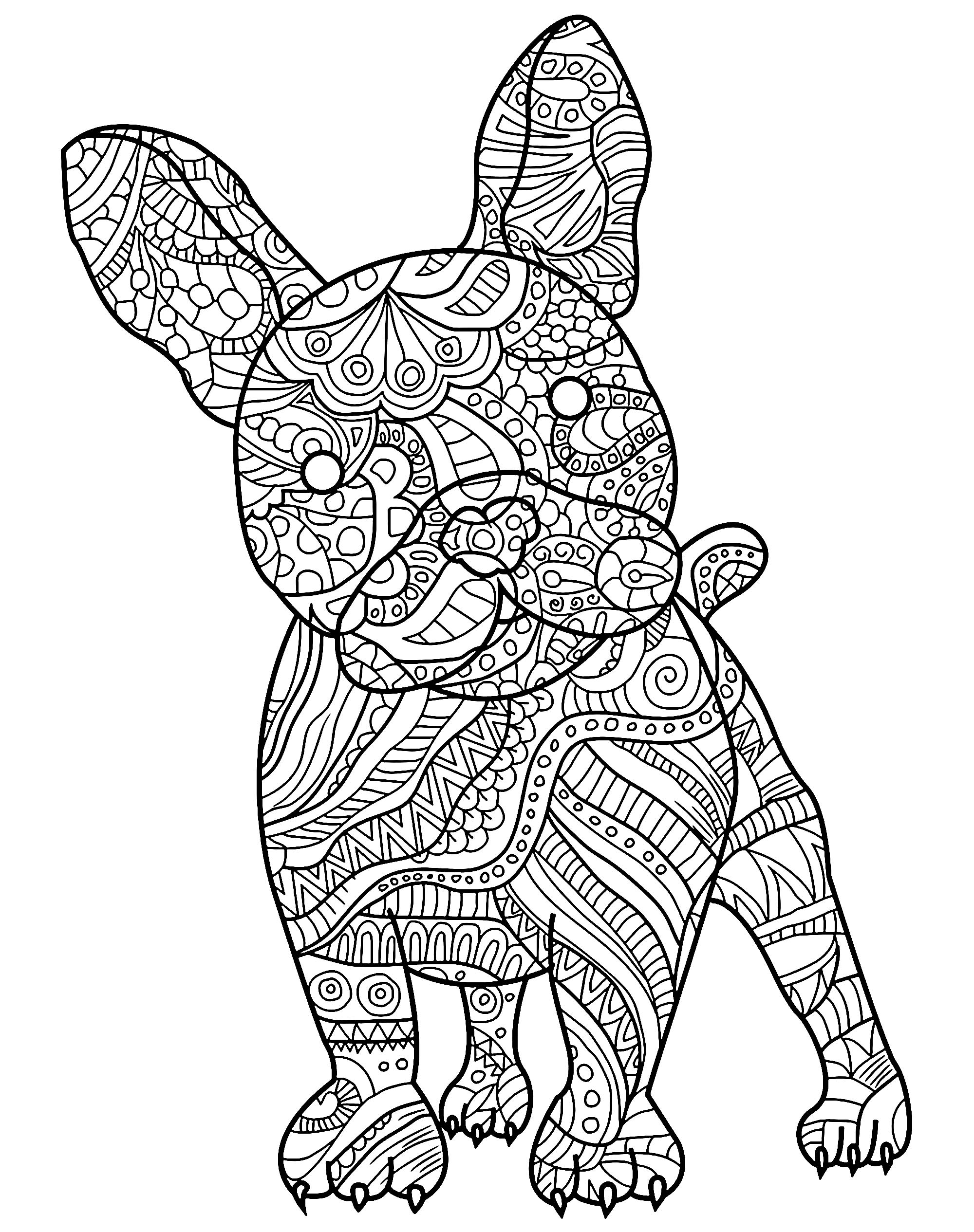 coloring in pages of dogs | Dogs to download for free - Dogs Kids Coloring Pages