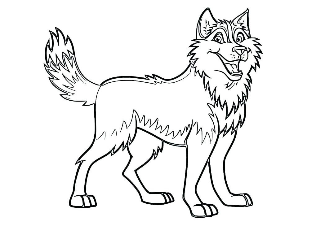 - Dog To Print For Free : Husky - Dogs Kids Coloring Pages