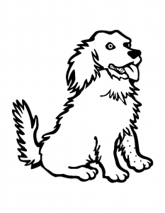 Coloring page dogs to color for children