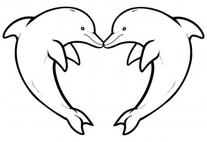 Coloring page dolphins to download