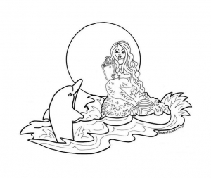 Coloring page dolphins free to color for kids