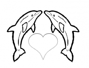 Coloring page dolphins to download for free