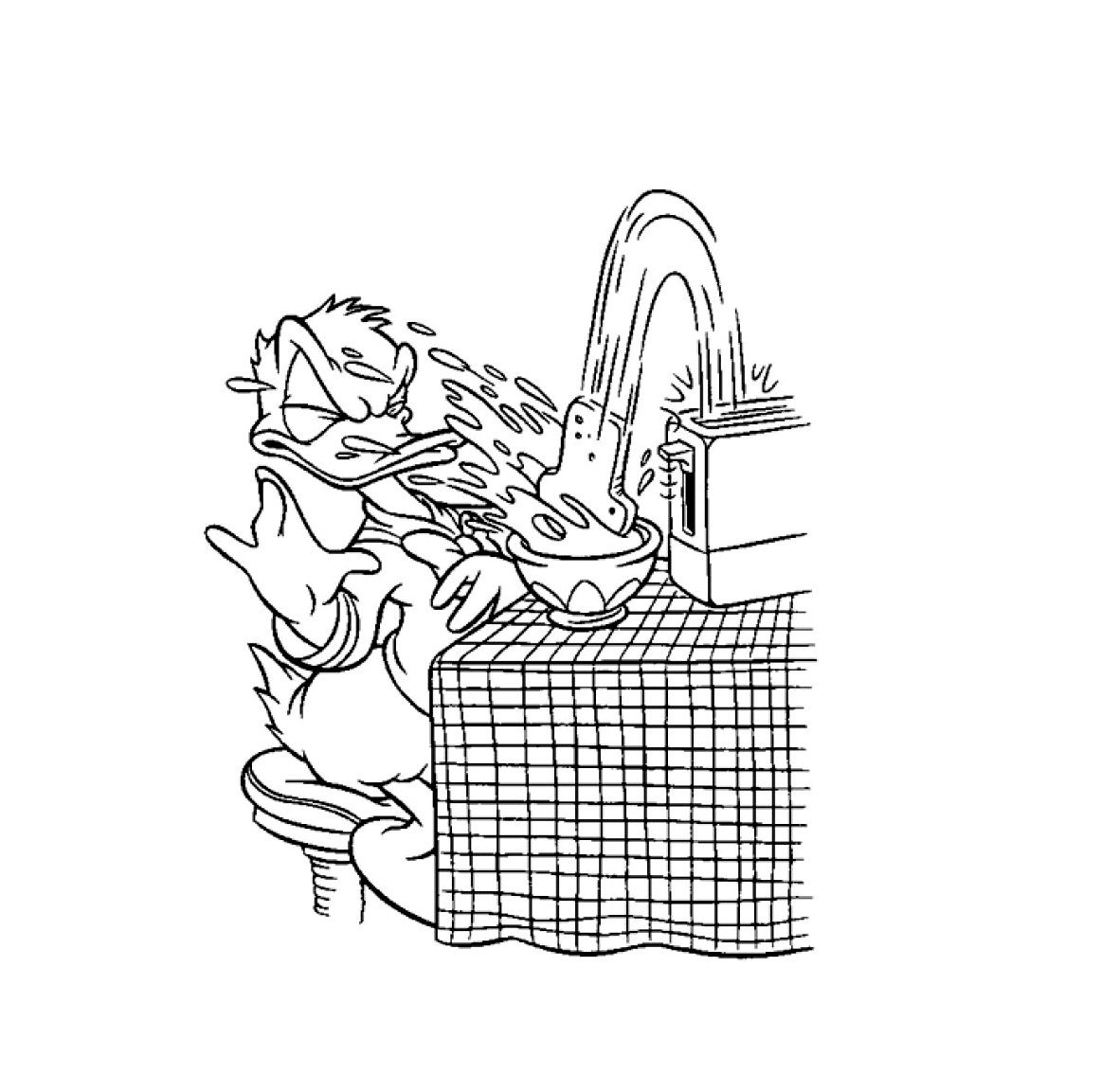 Simple Donald coloring page to download for free