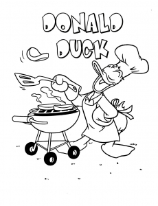 Coloring page donald to download