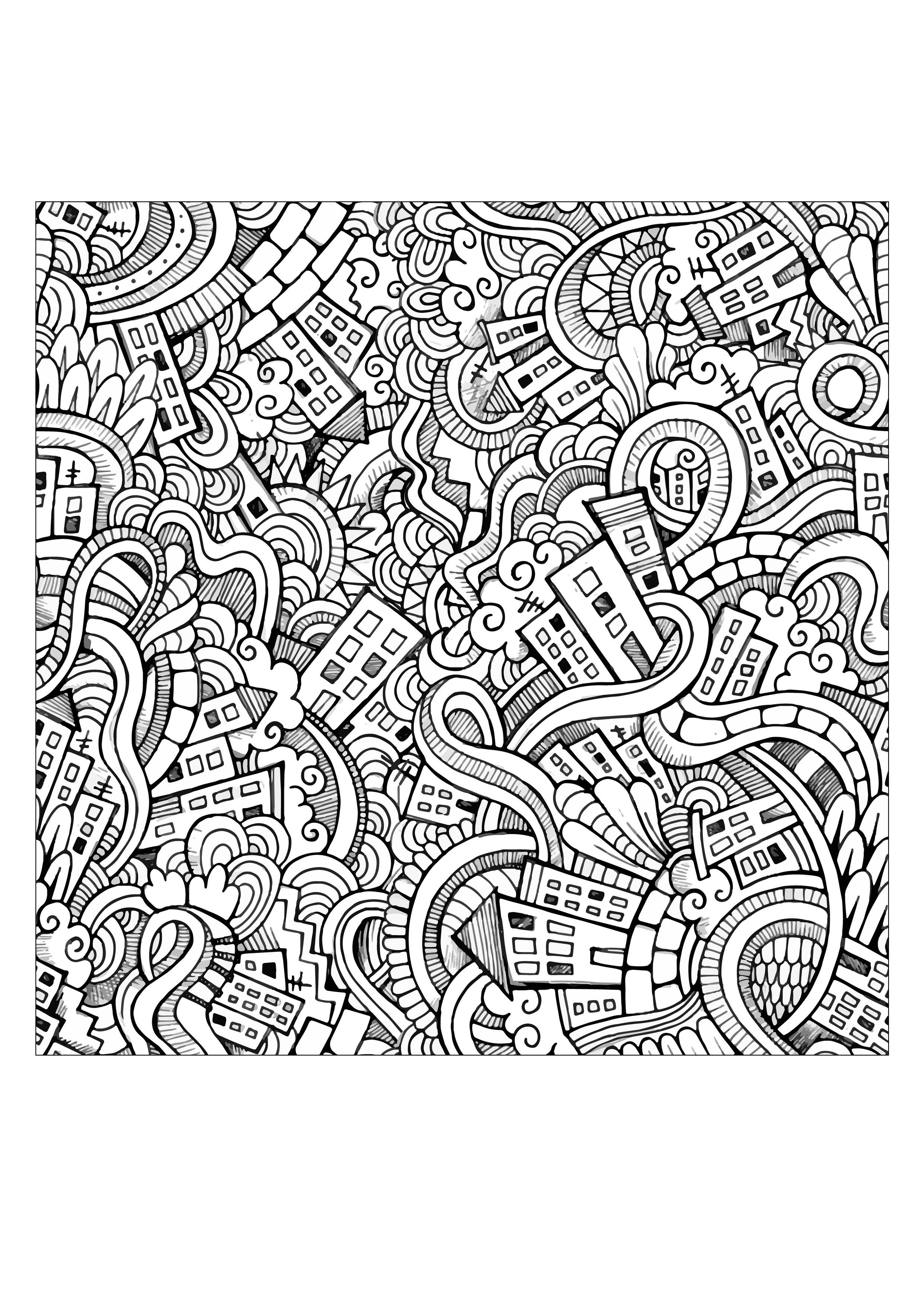 Doodle art to download - Doodle Art Kids Coloring Pages