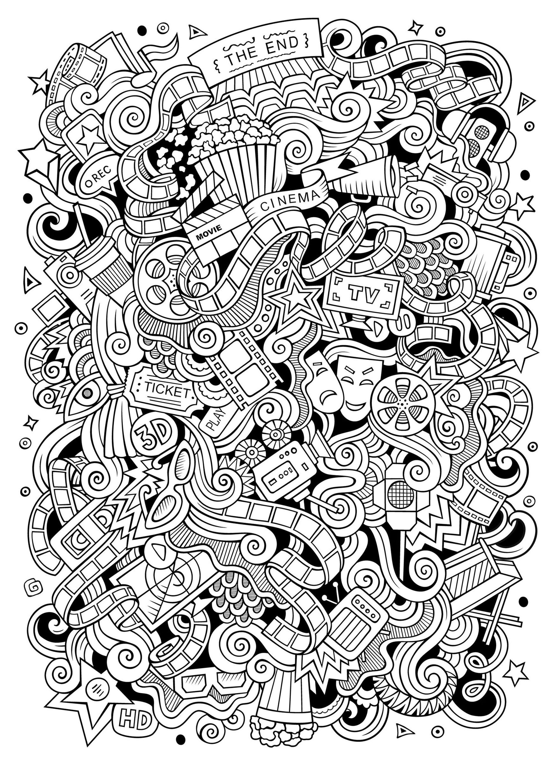 Doodle art to color for children Doodle Art Kids