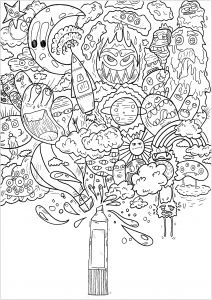Coloring page doodle art to color for children
