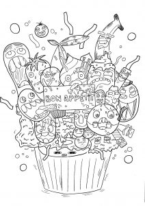 thumbs coloring pages for children doodle art